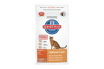 Science Plan Feline Adult Optimal Care with Lamb