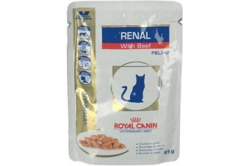 Royal canin Veterinary Diet: Kat Renal Beef Pouch 12x85g