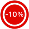 button 10% korting verrekend